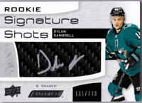 2018-19 UD Engrained Rookie Signature Shots  DYLAN GAMBRELL Autograph Auto #/249