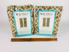 """TWO Waverly Home Classics Wave Rod Pocket Lovely Lattice Cafe Panel 50""""W x 84""""L"""