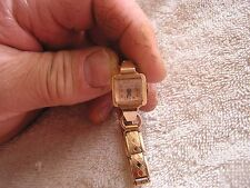 Vintage Bulova  Ladies Women's Watch Minty Copper  14K Gold 17 Jewels 5AB
