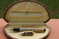 RARE stylo plume 14 kts WATERMAN ideal Safety 42 plaqué or de 1920