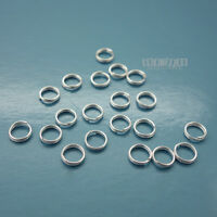 20PC Solid Sterling Silver 5mm 24 Gauge/0.5mm Split Jump Ring Connector #33126