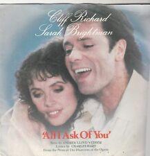 "CLIFF RICHARD SARAH BRIGHTMAN  All i Ask - 1986 7"""
