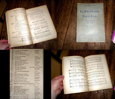 les belles chansons du pays de France anthologie chant 1937 Belgodère-Johannes