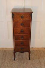 Antique Widdicomb Walnut French Louis Xvi Lingerie Chest Dresser