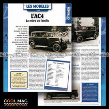 #hvf.89.03 CITROËN AC4 1929 Classic Car Fiche Auto