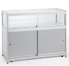 1/3 GLASS SHOWCASE COUNTER CABINET LIGHTS DISPLAY RETAIL SHOPFITTING 1000MM LOCK