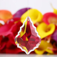 63mm Clear Maple Leaf Crystal Ball Prism Suncatcher Lamp Pendant Wedding Decor