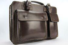 Business- und Laptoptaschen Luxus Aktentasche Dunkelbraun (Mokka) S