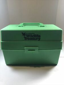Vtg Illustrated Wildlife Treasury Animal Fact Cards 1000+ and Carrying Case
