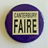 Vintage Canterbury Faire Pinback Button