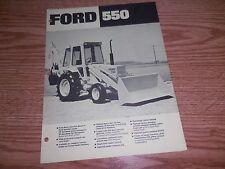 FORD 550 TRACTOR BROCHURE AD LITERATURE