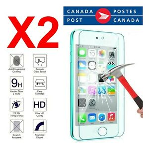 2 Pcs Tempered Glass Screen Protector for iPod touch 4, 5, 6, 7 Anti fingerprint
