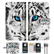 Leopard Wallet TPU Case Cover For Telstra 4GX Plus / ZTE A462 -- A013