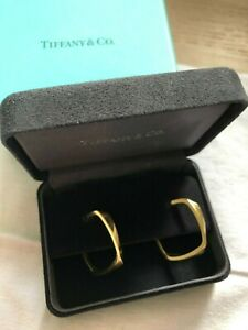 RARE TIFFANY & CO FRANK GEHRY 18CT GOLD TORQUE EARRINGS
