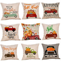 Halloween Pumpkin Throw Pillow Case Home Car Decor Sofa Bed Cushion Cover UA