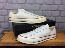 CONVERSE UK 8 EU 41.5 WHITE ALL STAR 70'S LOW CANVAS TRAINERS CHUCK TAYLOR