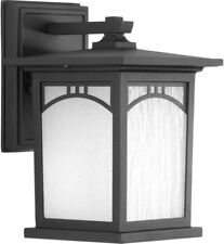 Progress Lighting Outdoor Wall Lantern 6 in Textured Black Weather Resistant Led