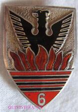 IN11294 - INSIGNE 6° Régiment de Chasseurs d'Afrique, émail, flammes orangées