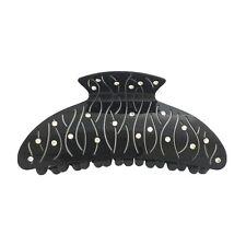 Black Rhinestone Hair Jaw Claw Clip