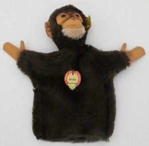 Vtg Steiff Original Jocko Monkey Chimp Hand Puppet Made in Germany EXCELLENT