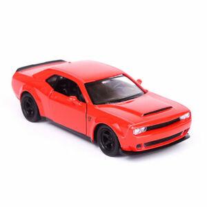 1:36 Challenger SRT Demon Model Car Diecast Gift Toy Vehicle Kids Pull Back Red