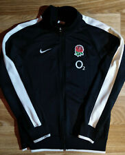 Nike England Rugby Mens Tracksuit Top Jacket Training Black White O2 Sweatshirt