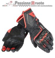 Leather gloves moto Dainese Carbon D1 Long black red