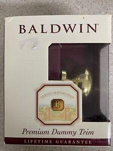 Baldwin Egg Knob Polished Brass Premium  - Dummy Trim Door Knob