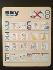 Safety Card / SKY AIRLINES / BOEING 737-400 /