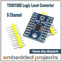 8 Channel Bi-Directional Logic Level Converter 3.3V 5V. TXS0108E. Ardunio