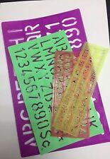 Alphabet Letters Number Stencil Upper, Lower Case Stencils 0.7 cm,1 cm,2 cm,3 cm
