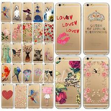 For iPhone 6 6S TPU Hot Sale Transparent Silicone Soft Cover Case Cute Printed