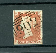 GB  1841  Penny Red  (SG 8)  Fine  4-Margins    (S457)