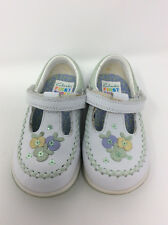 CLARKS First Shoes White Leather Mary Janes Girls 5 G Wide Fit