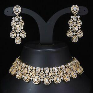 Indian Kundan Painting Jewelry Meenakari Work diamond choker  Bridal set
