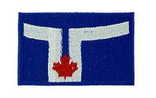 Parche bandera PATCH bordado termoadhesivo TORONTO Canadá canadiense