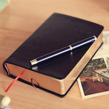 Classic Retro Leather Cover Notebook Journal Diary Sketchbook Thick Blank Pages