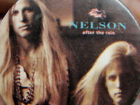 Vintage NELSON Rock Hair Band 1980's Badge Button Pinback
