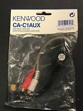 KENWOOD CA-C1AUX AUXILIARY INPUT TO RCA CABLE . IPOD/MP3 US SELLER