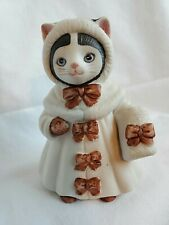 """Very Rare"" Schmid Kitty Cucumber Vtg 1985 Ellie ""Ribbons and Bows"" Figurine"