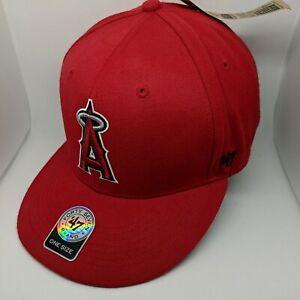 47 Brand Los Angeles LA Angels Clean Up Hat Cap Navy//Cooperstown Logo