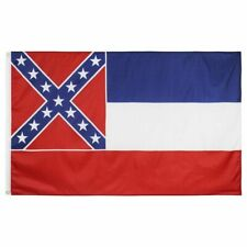 3x5 ft MISSISSIPPI Magnolia State OFFICIAL STATE FLAG Print Polyester In Stock!!