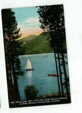 Antique National Park Post Card Rocky Mountain Grand Lake Western Gateway
