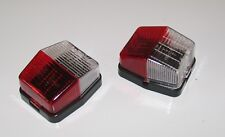 2x JOKON SPL115 RED WHITE CLEAR SQUARE SIDE MARKER LAMPS LIGHT CARAVAN MOTORHOME