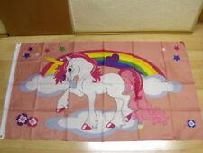 Fahnen Flagge Einhorn mit Regenbogen - 90 x 150 cm