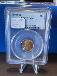 1938-D/D Lincoln Wheat Cent PCGS MS66RD RPM FS-501 rare variety