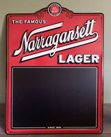 "Narragansett Beer Lager Tin Tacker Metal Sign Chalkboard Brewing 18"" X 24.5"" NEW"