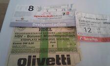 3 Tickets HSV - VFL Borussia Mönchengladbach ,Eintracht Frankfurt, SCF, BMG, SGE