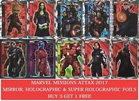 Topps Hero Attax Marvel Missions Mirror & Super Holographic Foils
