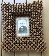 """American Antique Crown Of Thorns Tramp Folk Art 3 Layer 16"""" X 18"""" Picture Frame"""